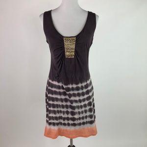 Velvet Graham Spencer Sleeveless Dress Tie Dye
